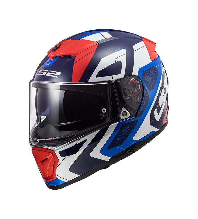 Comprar LS2 Helmets Interruttore FF390 Android Blu Blu Rosso Rosso Rosso Pinlock Max Vision casco integrale incluso