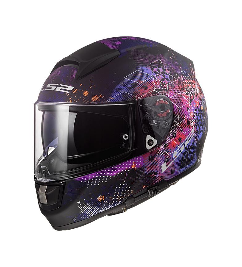 Comprar LS2 Helmets Casco integral Vector Evo Cosmos Matt Black Pink Pinlock Max Vision incluido
