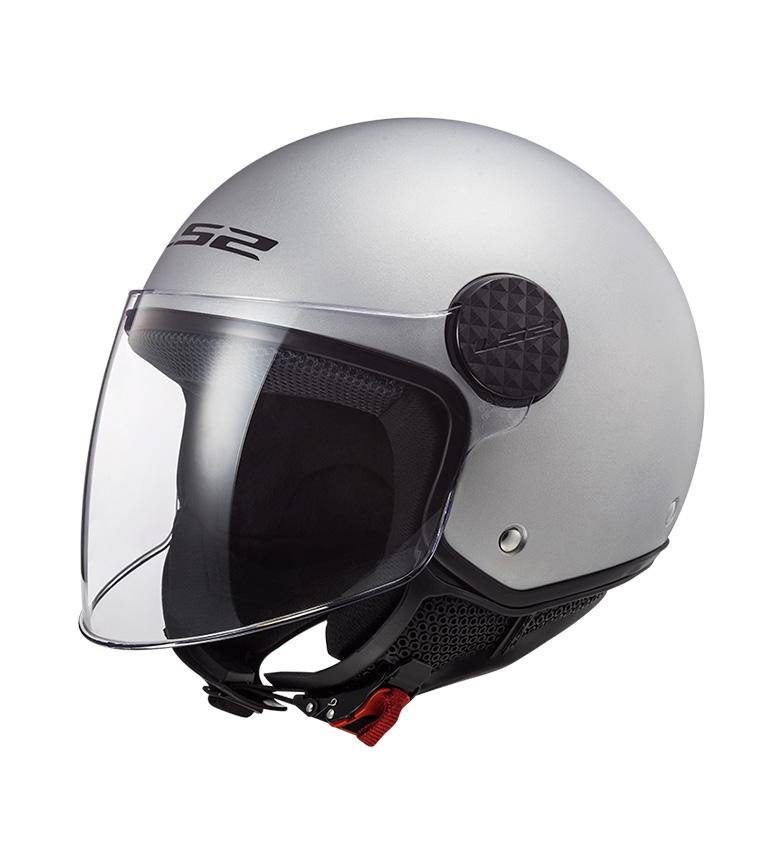 Comprar LS2 Helmets Casco Jet Sphere OF558 Gloss Silver
