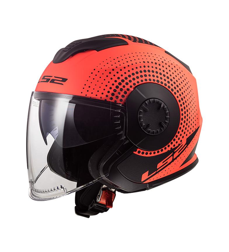 Comprar LS2 Helmets Casco Jet Verso OF570 Spin Matt Fluor Orange