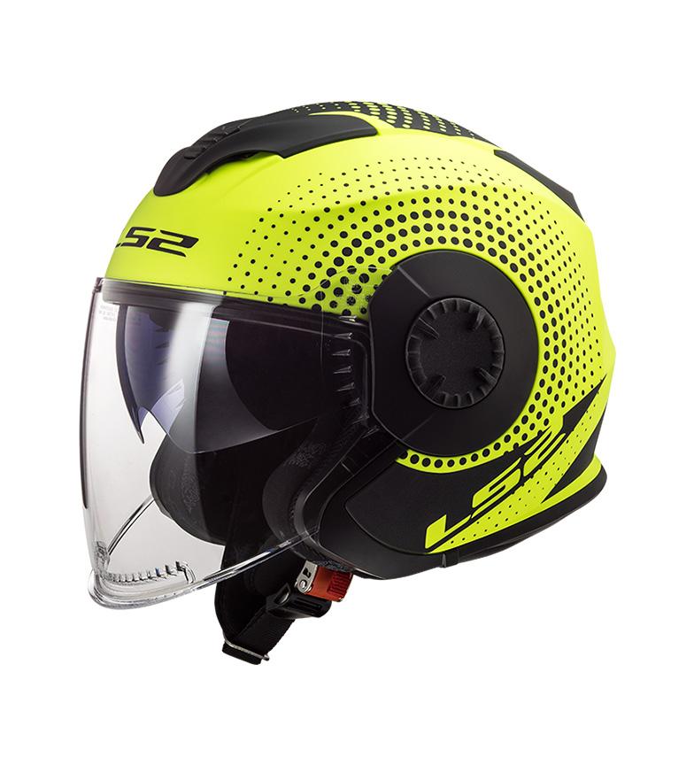 Comprar LS2 Helmets Casco Jet Verso OF570 Spin Matt Hi Vis Verso OF570 Giallo