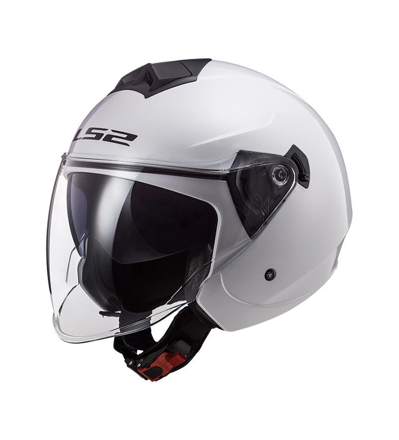 Comprar LS2 Helmets Jet Helmet Twister II OF573 Single Mono Gloss White