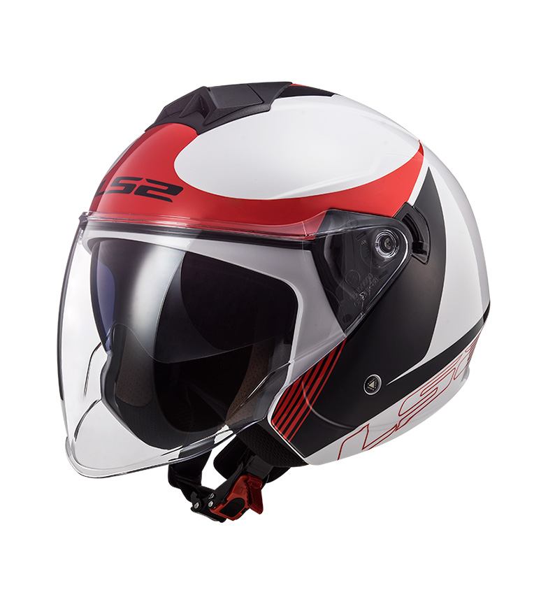 Comprar LS2 Helmets Jet Helmet Twister II OF573 Plane White Black Red