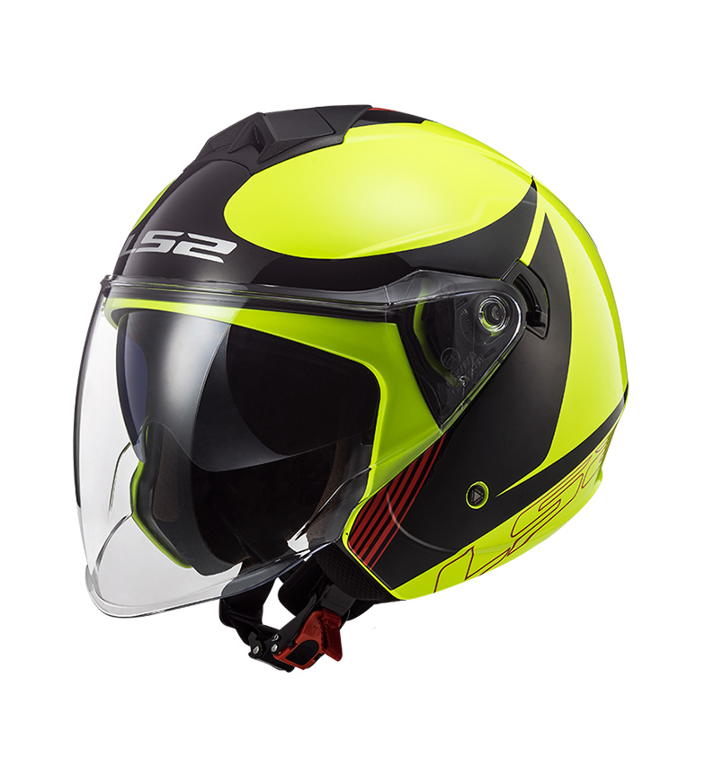 Comprar LS2 Helmets Jet Helmet Twister II OF573 Plane Yellow Black Red