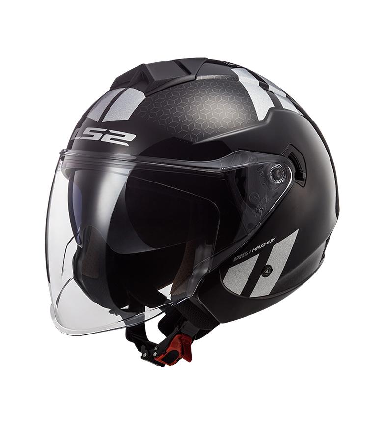 Comprar LS2 Helmets Jet Helmet Twister II OF573 Combo Black Rainbow