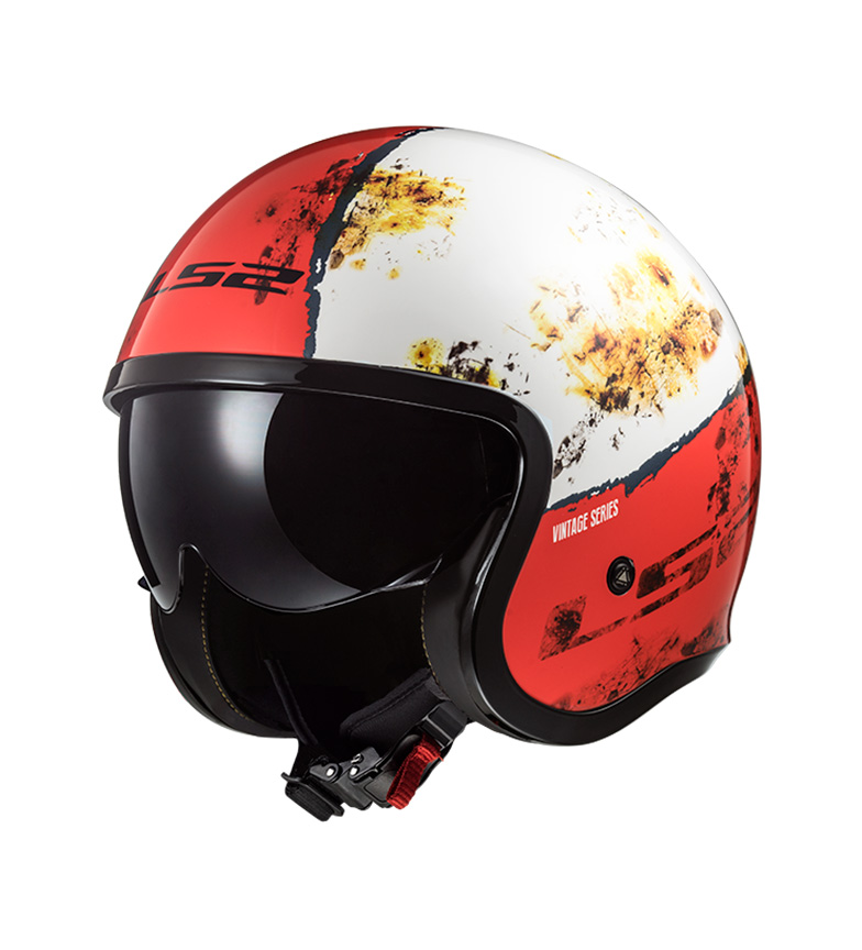 Comprar LS2 Helmets Casco Jet Spitfire OF599 Rust White Red
