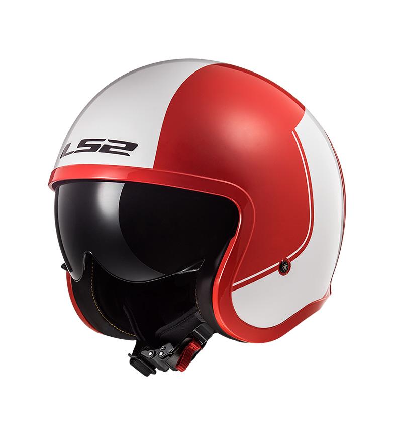 Comprar LS2 Helmets Capacete Jet Spitfire OF599 Aro Vermelho Branco