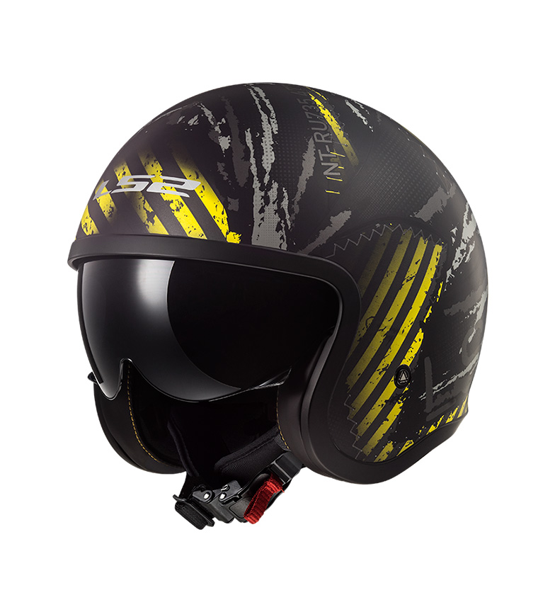 Comprar LS2 Helmets Casco Jet Spitfire OF599 Garage Matt Black Yellow