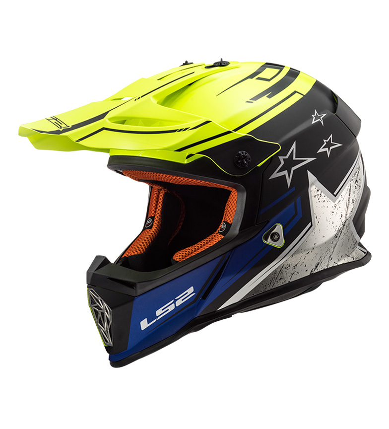 Comprar LS2 Helmets Motocross Casco Fast MX437 Core opaco nero opaco Hi Vis giallo