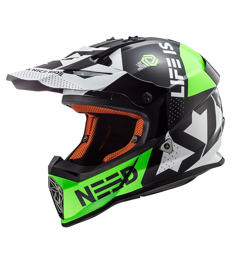 Comprar LS2 Helmets Helmet Motocross Fast MX437 Block Black Green