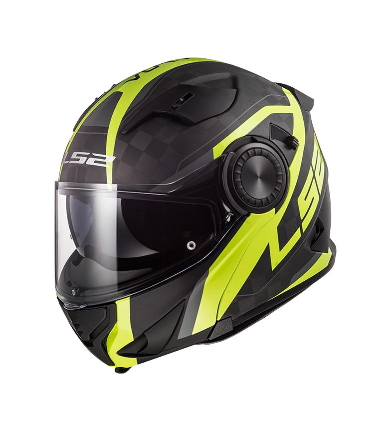 Comprar LS2 Helmets Casco modular Vortex FF313 Frame Carbon Hi Vis Yellow P/J -Pinlock incluido-