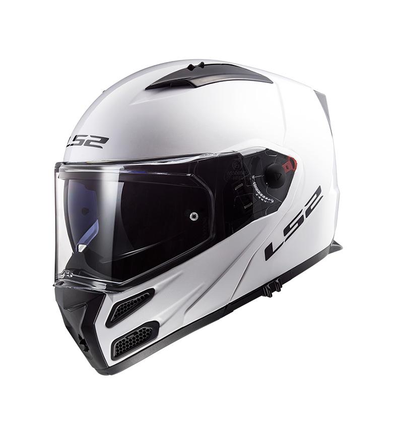 Comprar LS2 Helmets Casco modular Metro FF324 Gloss White P/J -Pinlock Max Vision incluido -