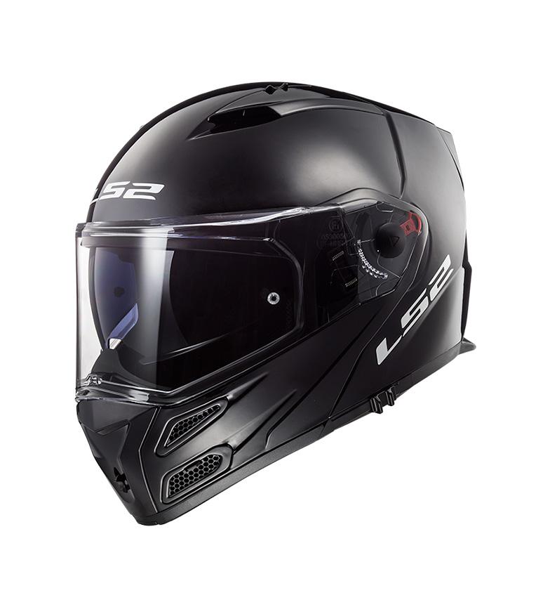 Comprar LS2 Helmets Casco modular Metro FF324 Gloss Black P/J -Pinlock Max Vision incluido -
