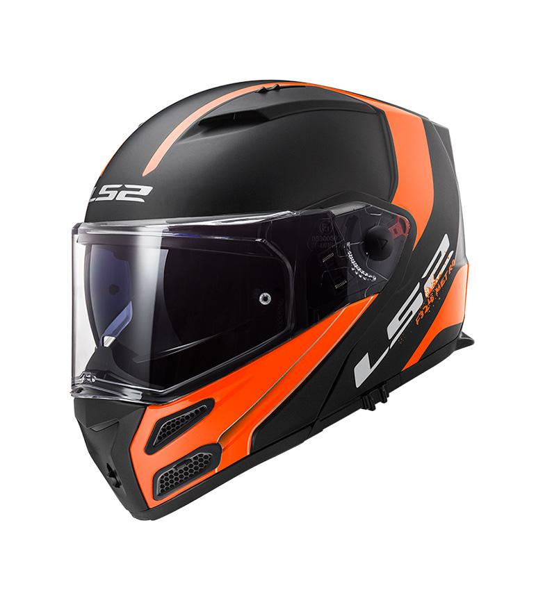 Comprar LS2 Helmets Capacete modular Metro FF324 Rapid Mate Laranja Preto P / J - Pinlock Max Vision incluso -