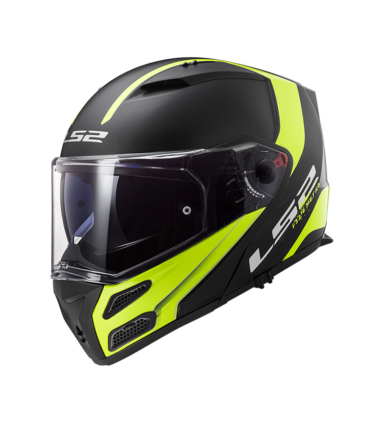 Comprar LS2 Helmets Metro FF324 Rapid Matt Black Yellow P/J Modular Helmet -Pinlock Max Vision Included -