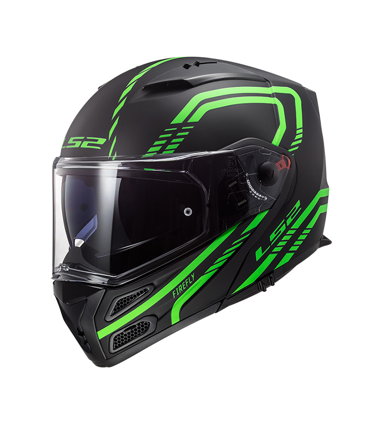 Comprar LS2 Helmets Metro FF324 Evo Firefly Firefly Matt Glow Green P/J casco modulare -Pinlock Max Vision incluso -