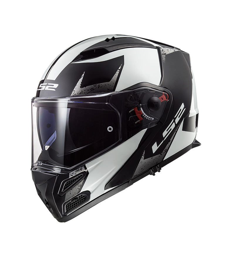Comprar LS2 Helmets Casco modular Metro FF324 Sub White Black P/J -Pinlock Max Vision incluido -