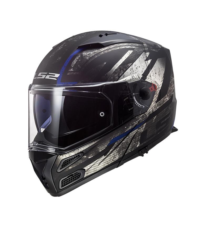 Comprar LS2 Helmets Casco modular Metro FF324 Buzz Matt Black Titanium Blue P/J -Pinlock Max Vision incluido -