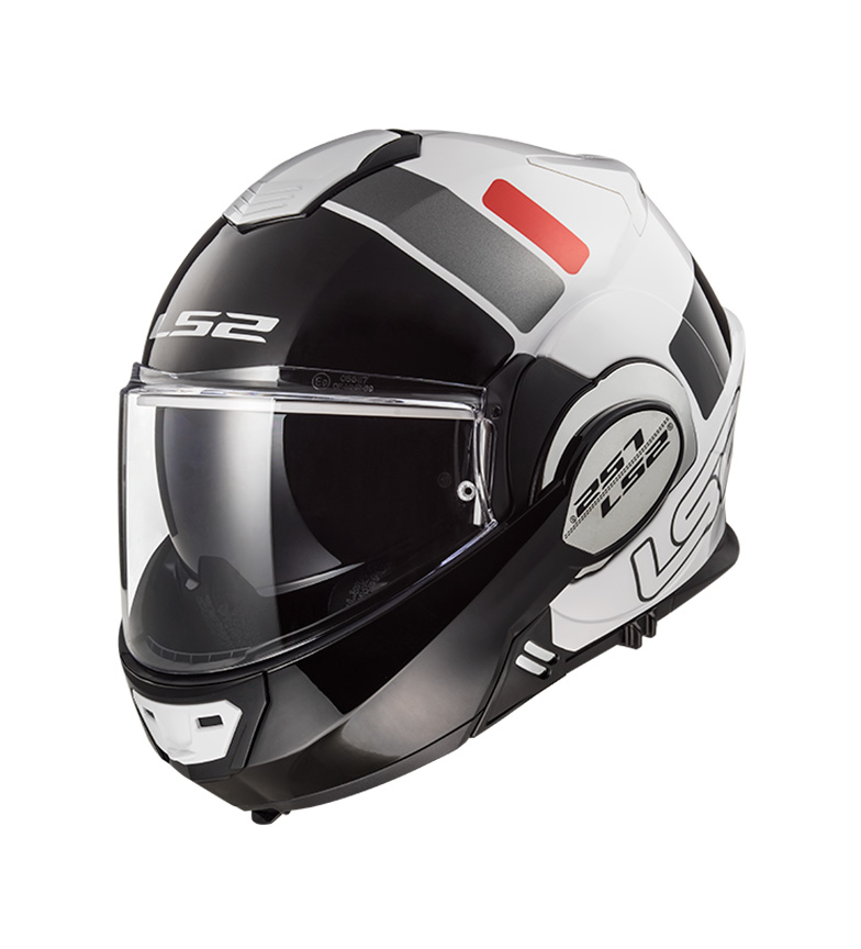 Comprar LS2 Helmets Valiant FF399 Prox White Black Red Modular Helmet -Pinlock Max Vision included -