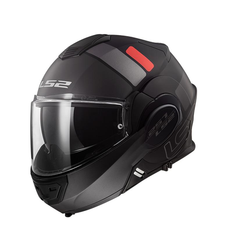 Comprar LS2 Helmets Valiant FF399 Prox nero opaco opaco titanio titanio modulare casco modulare -Pinlock Max Vision incluso -.