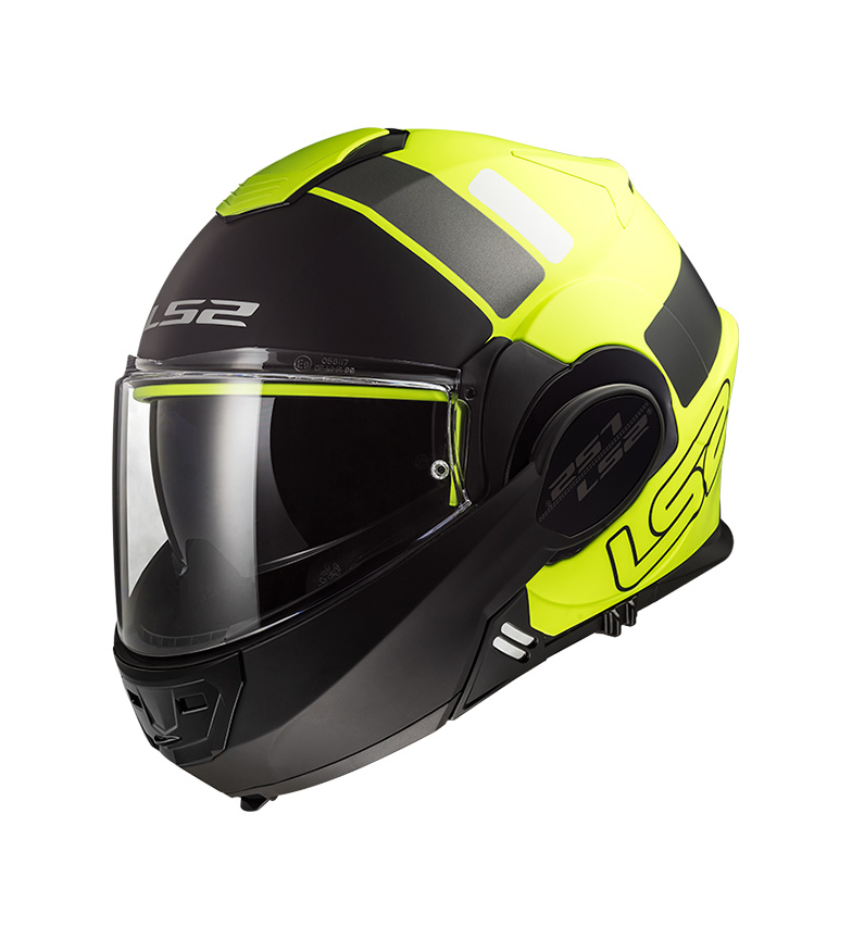Comprar LS2 Helmets Valiant FF399 Prox Matt Hi Vis Yellow Black Modular Helmet -Pinlock Max Vision included -
