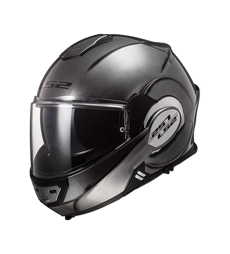 Comprar LS2 Helmets Casco modular Valiant FF399 Jeans Titanium -Pinlock Max Vision incluido -