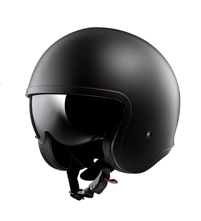 Comprar LS2 Helmets Casco Jet Spitfire OF599 Solid Black Gloss