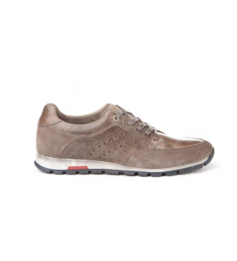 Mañas Zapatillas de piel 2926 gris