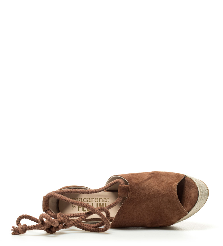 cuero 12 piel Altura cuña Sandalias 4 de 5cm Londrea Macarena C8ZXqwx