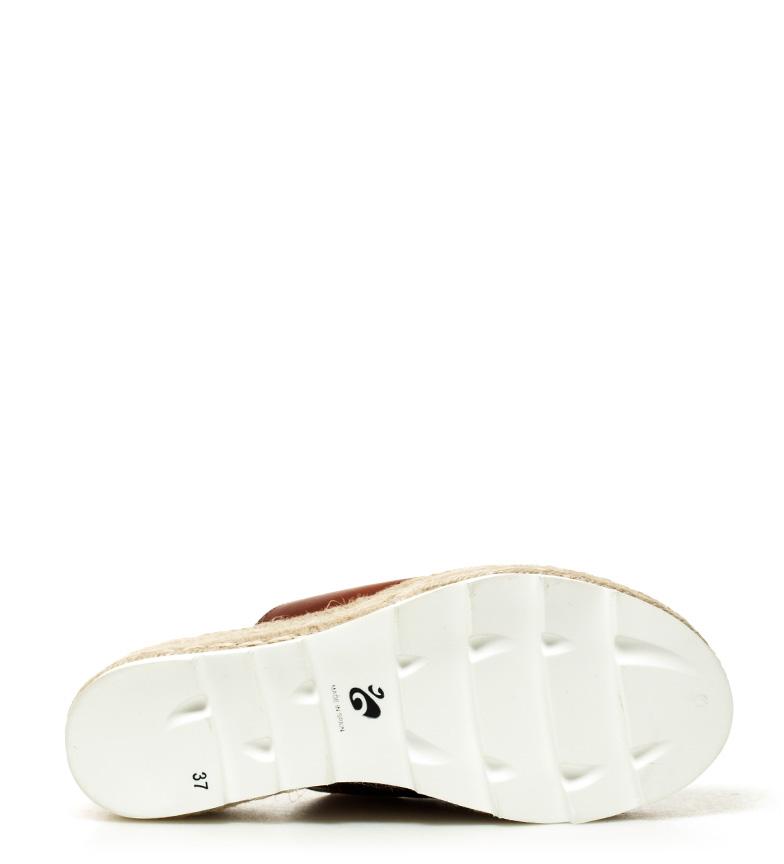 Sofia Altura 10 Macarena cuero de 6cm Sandalias plataforma piel wUH1t