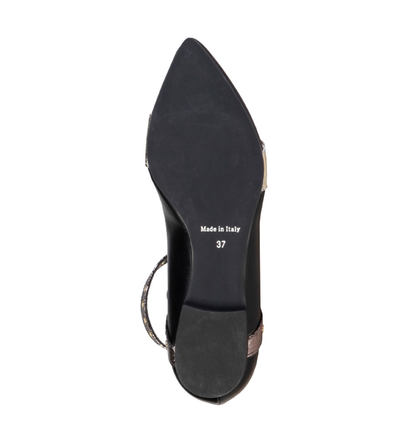 Italia dorado Made Made In Italia Antonella In Bailarinas negro negro Antonella Bailarinas q0w1KUFa