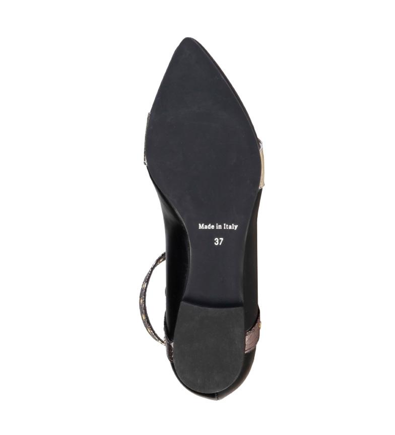 Made In Italia Bailarinas Antonella negro, dorado