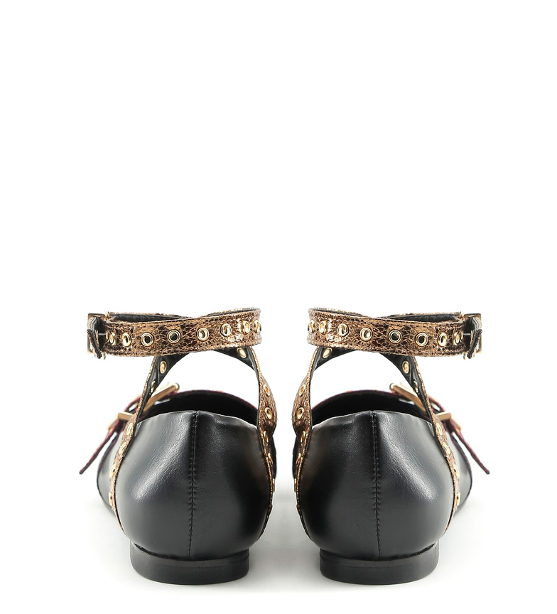 rosa Made Italia In negro bronce In Antonella Made Bailarinas TF0gUq1xnF