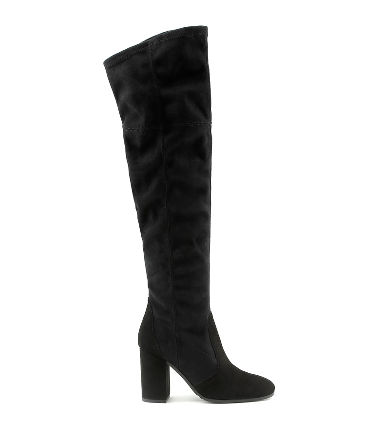 Comprar Made In Italia Black leather boots Vanessa -Heel height: 9cm-