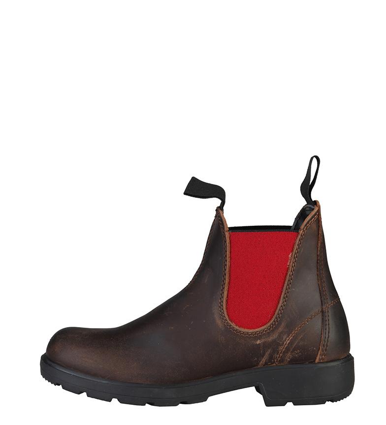 Comprar Made In Italia Franca bottes en cuir marron foncé