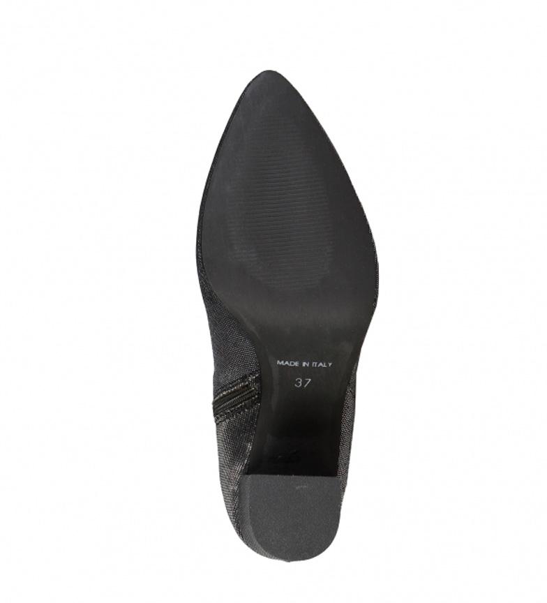 negro tacón Altura Italia Viviana 9cm In Made Italia Made Viviana Botines Botines In U1AOnqFq