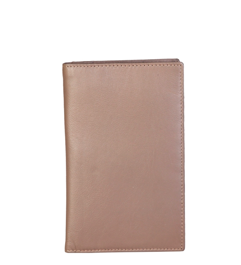 Comprar Made In Italia Leather wallet Andria taupe -11x17x0,5cm-