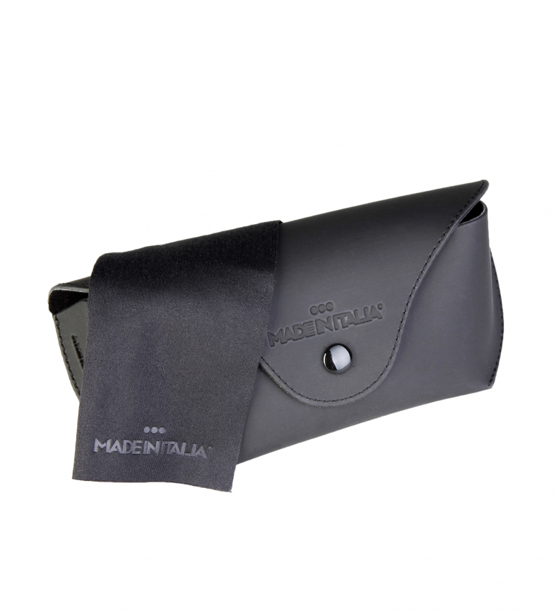 Made-In-Italia-Occhiali-da-sole-neri-Otranto-Uomo-Blu-Nero-Marrone-Nylon miniatura 4