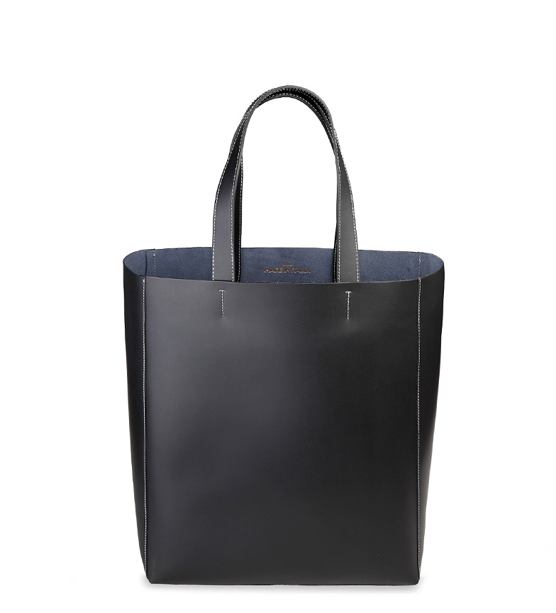 Comprar Made In Italia Shopping bag de cuero Fosca negro -32x38x13 cm-