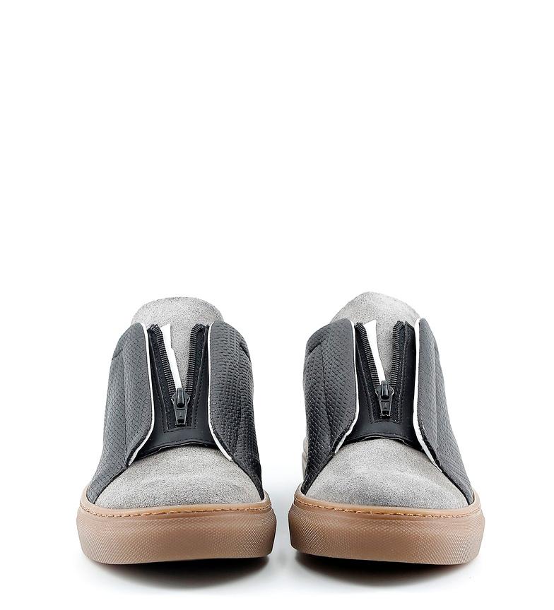 Made In Italia Zapatillas de piel Gregorio negro