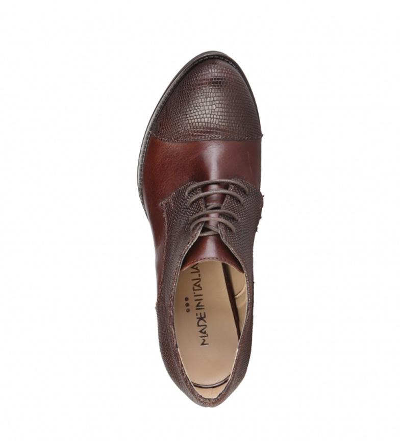 Italia Piel Abotinados De In Marrntacn 11cm Zapatos Made Sabrina trBChdsxQ