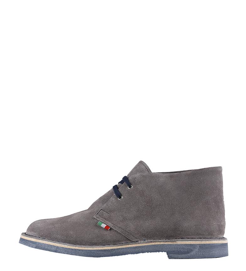 Cuero In Piedra Romano Zapatos De Gris Made Italia 54RjAL