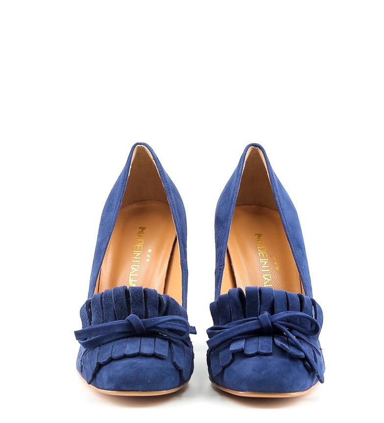 Zapatos Altura 9 5cm Made de piel In Nerea Italia tacón azul E0qzU0