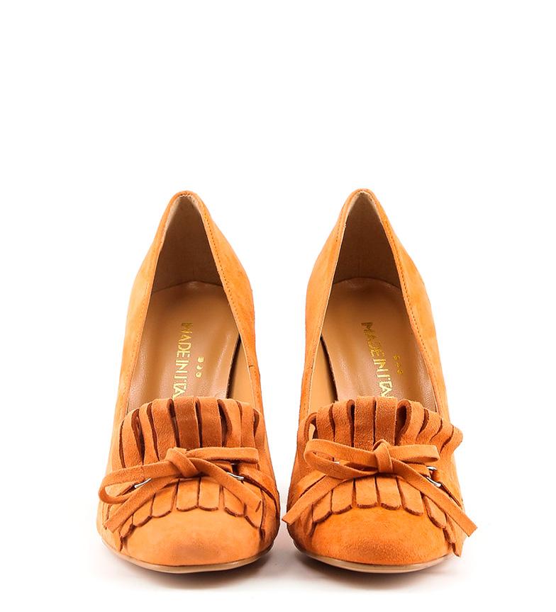 In 5cm tacón Italia Made de 9 Zapatos Altura Nerea piel naranja 7dg8WgAv