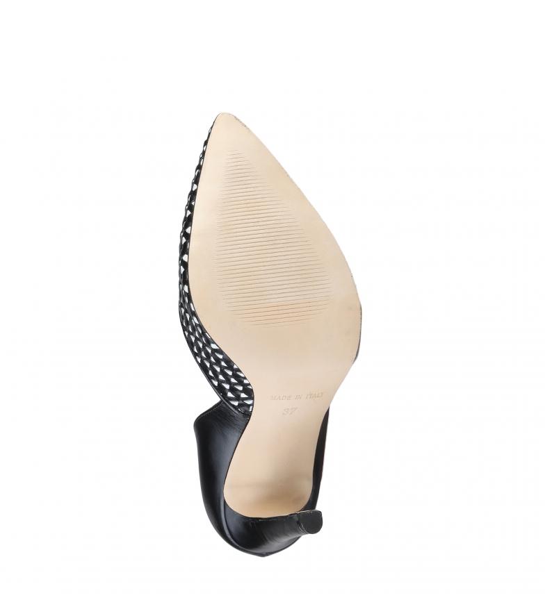 de Altura 10cm negro Italia tacón piel Made Violete In Zapatos t0v6q
