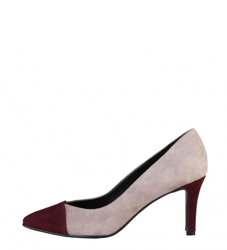 Comprar Made In Italia Zapatos de serraje Flavia nude, burdeos -Tacón de 8cm-