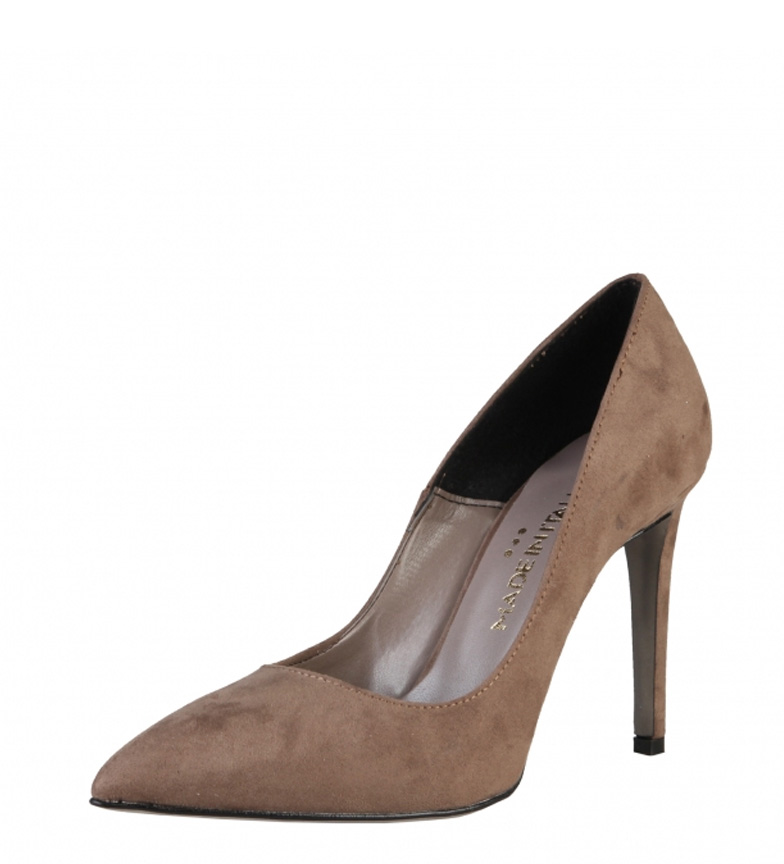 Tacón In Made Monica Italia 10cm Zapatos de taupe BPwqA1np