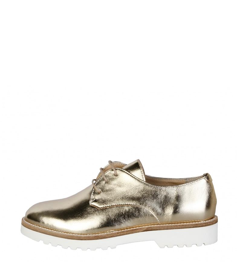 ba107ce8 ... Zapatos Nina oro Mujer/chica Dorado Tela Plano 1 a 3cm Cordones Casual  Fiesta. Made In Italia