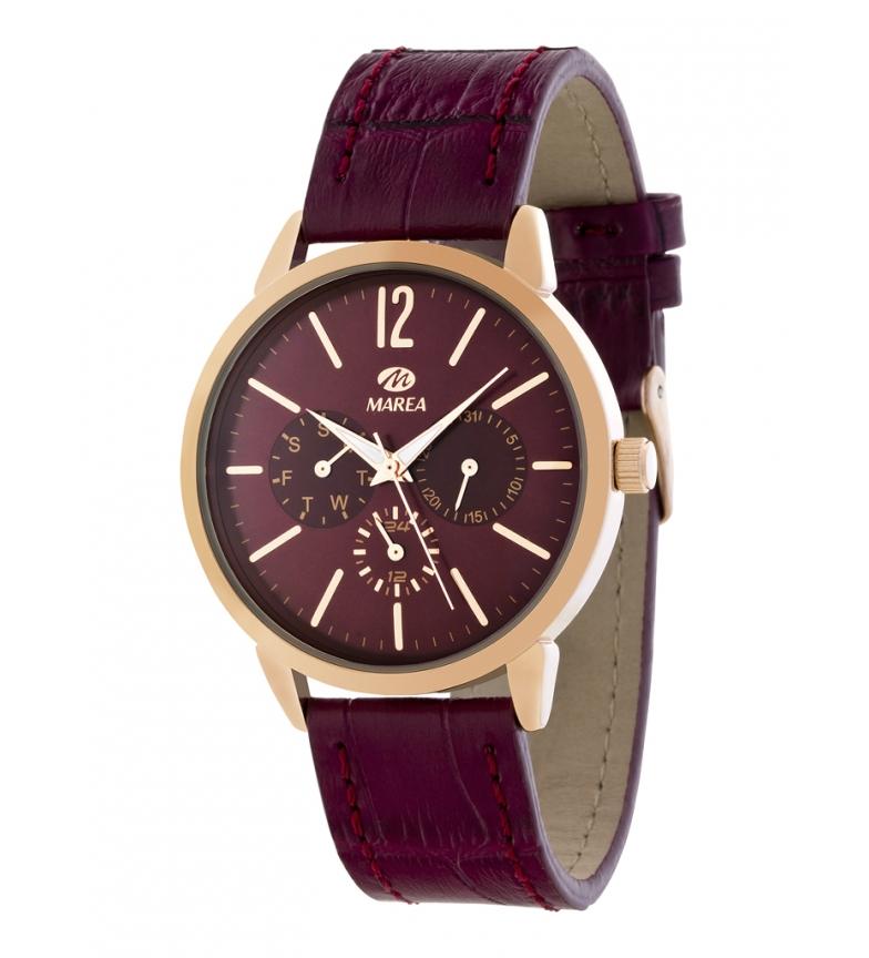 Comprar Marea Relógio Cronógrafo Retro Borgonha