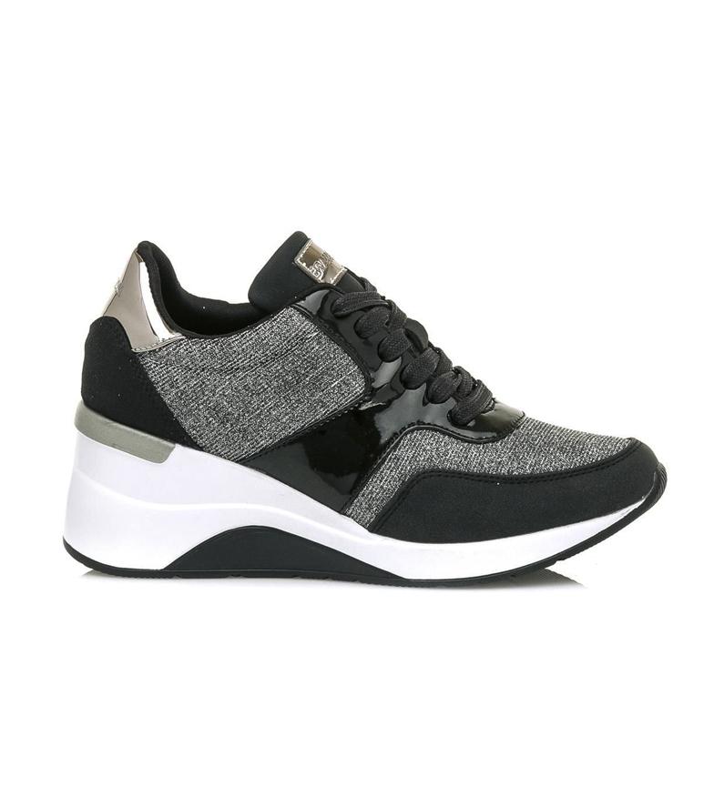 Comprar MARIAMARE Zapatillas 62447 negro, plata -Altura cuña: 6 cm-